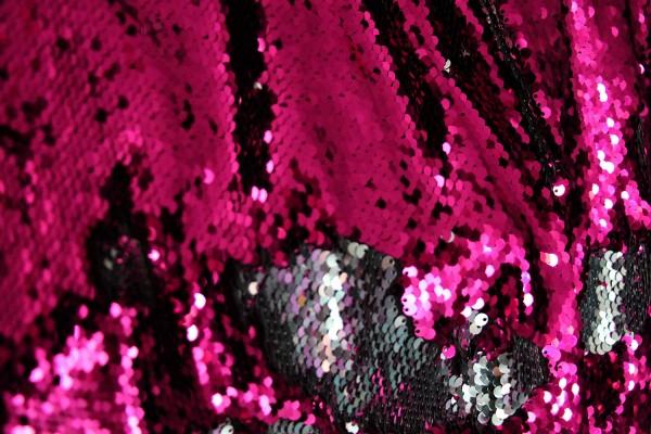 """Zauber""-Pailletten, pink/silber"