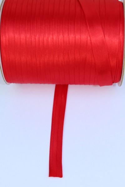 Satin-Schrägband 15mm gefalzt, rot