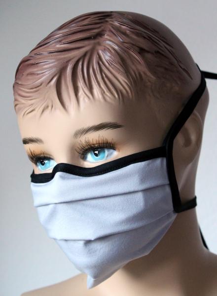 Wiederverwendbarer Behelfs-Mundschutz grau
