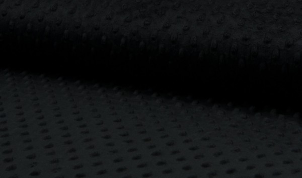 Minky Fleece Punkte schwarz