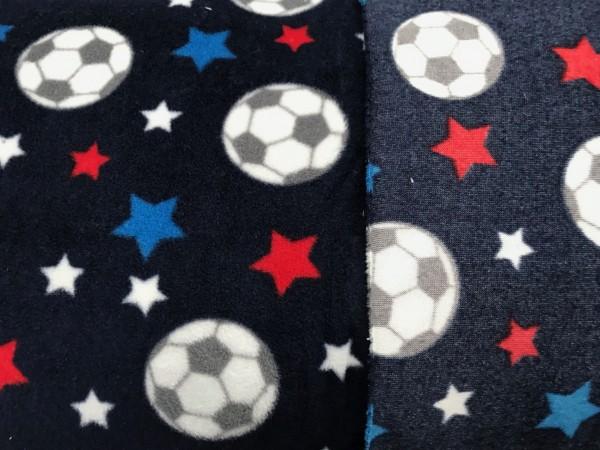 Leichter Fleece dunkelblau Fußball und Sterne