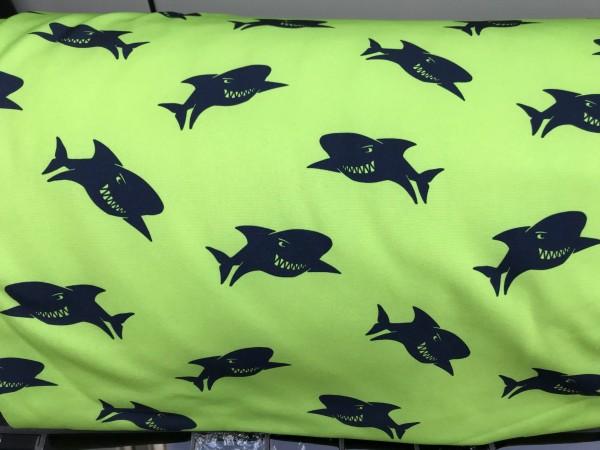Softshell Hai grün/dunkelblau