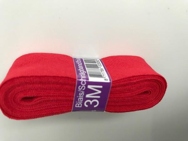 Baumwoll-Schrägband 20mm gefalzt, 3m