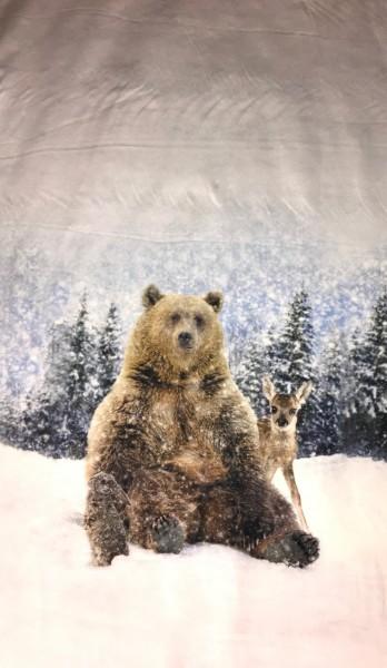 Stenzo Jersey-Panel Bär und Hasen im Schnee