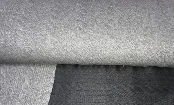 Jaquard Zopf grau/meliert