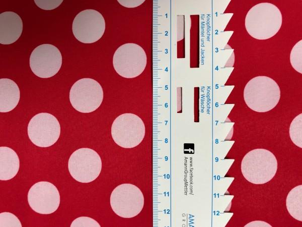 Softshell rot mit weißen Punkten