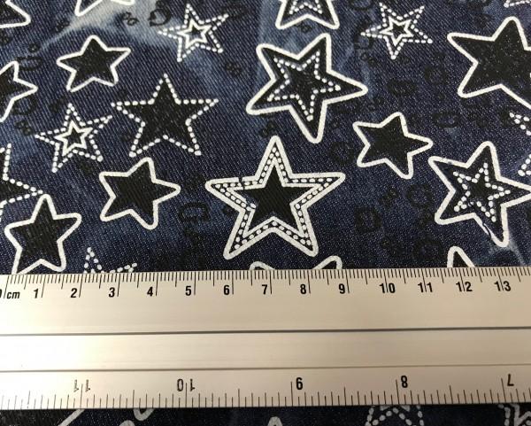 Jeans stretch Star Print klein